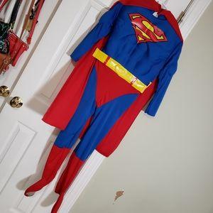 Superman Costume MEDIUM Halloween Party Full Body